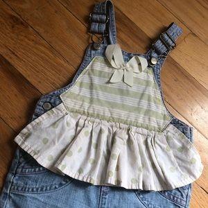 OLD NAVY: Vintage: bib overalls: denim: jumper